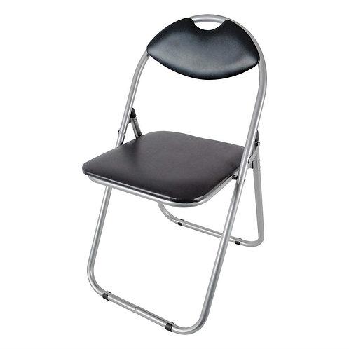 Folding Padded Chair - Black