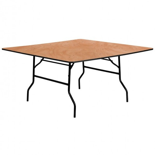 5 Foot Square Wooden Trestle Table