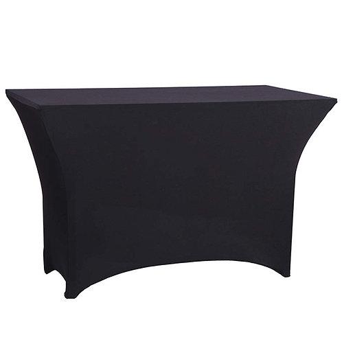 Square Spandex Table Cover - Black