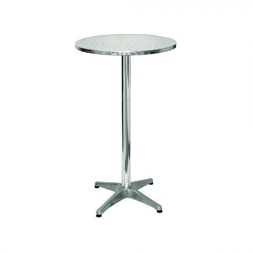2 Foot Round Metal Poseur Table