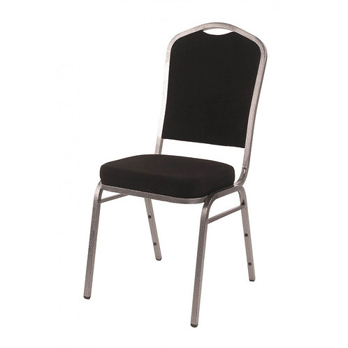 Diamond Steel Banqueting Chair - Black