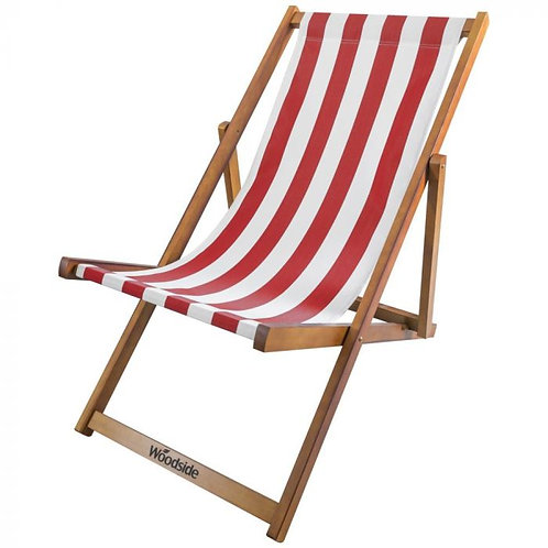 Deck Chair - Red & White
