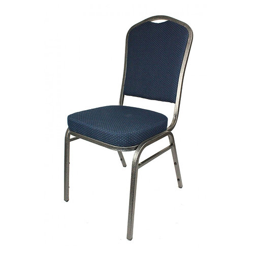 Diamond Steel Banqueting Chair - Blue