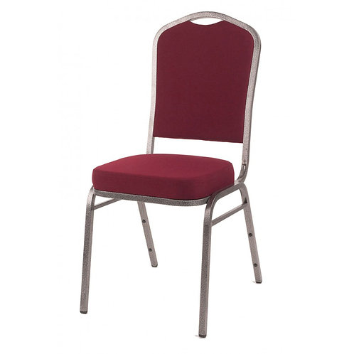 Diamond Steel Banqueting Chair - Burgundy