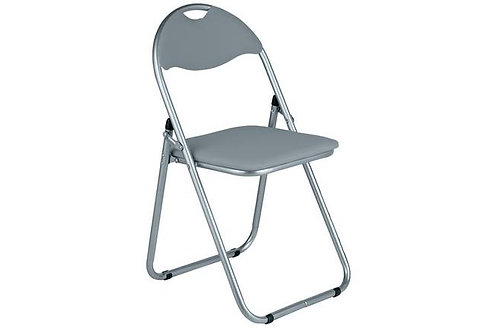Folding Padded Chair - Grey