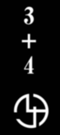 数字のロゴの派生