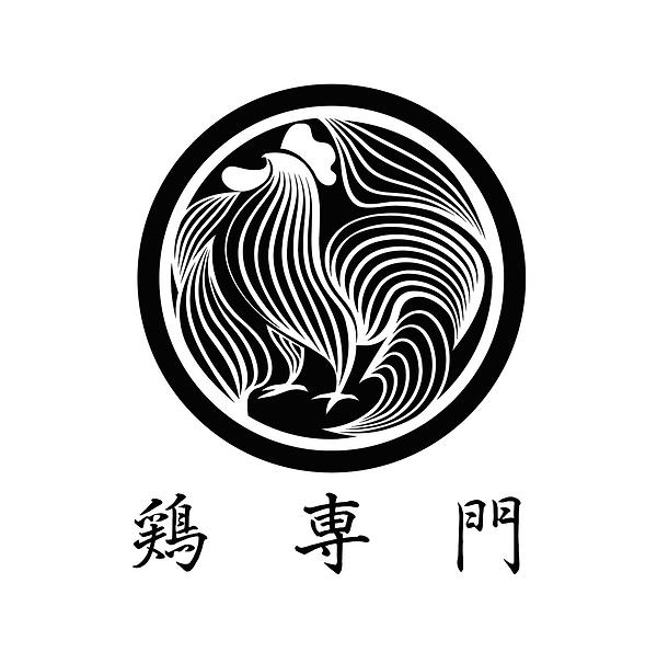 和風な鶏のロゴ