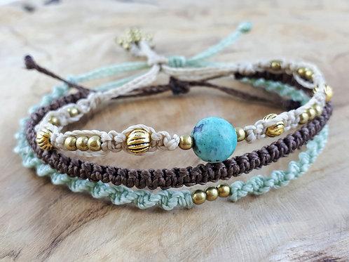 Armbänder Set Perlen Gold