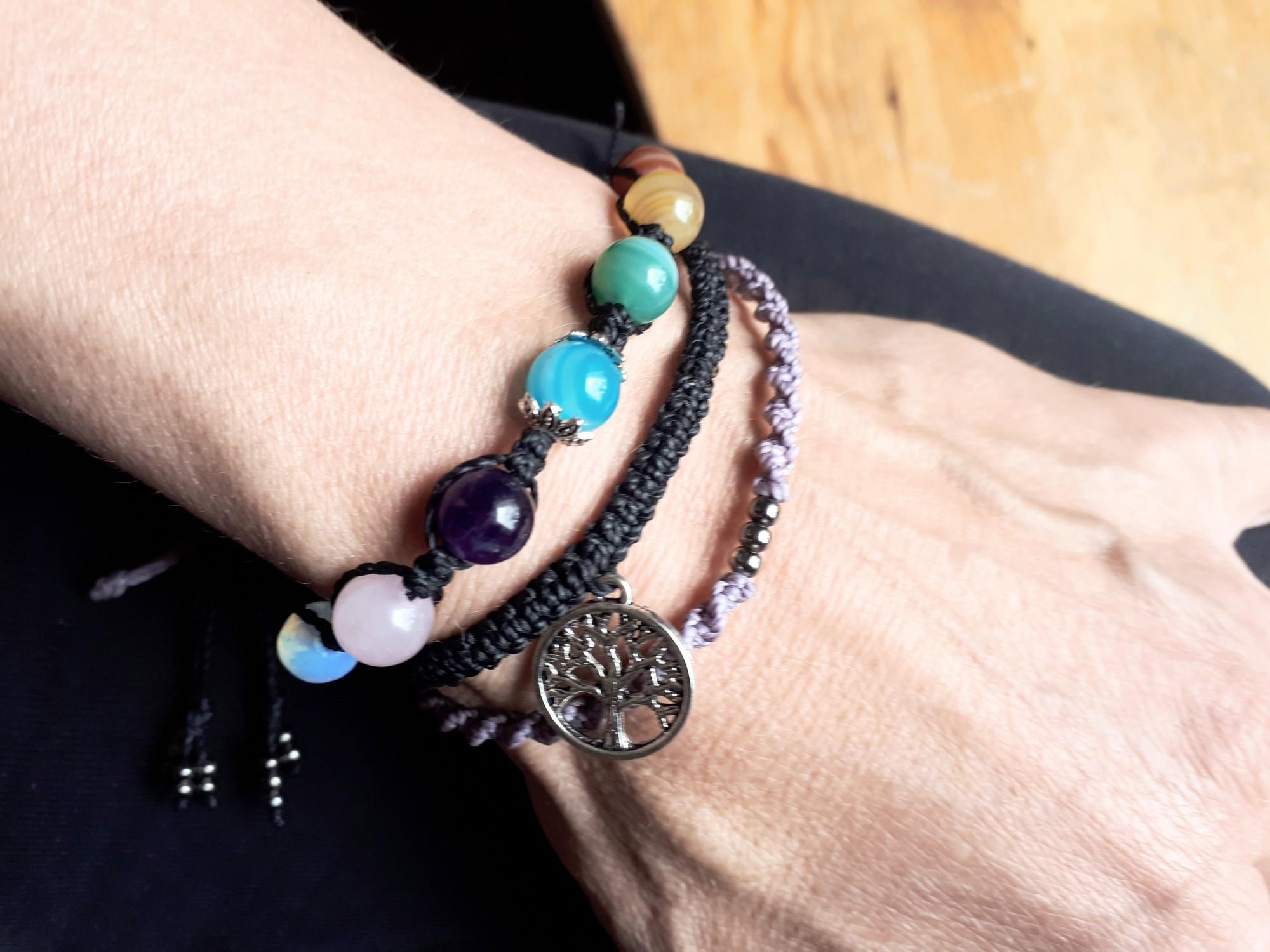 Regenbogen Armband set