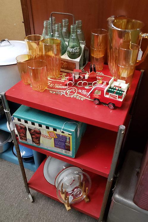 Coca Cola Rolling Cart V#3115