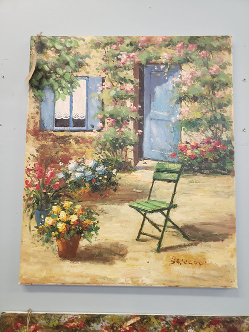 Cottage Entrance Oil Painting 20 x 24 V#518