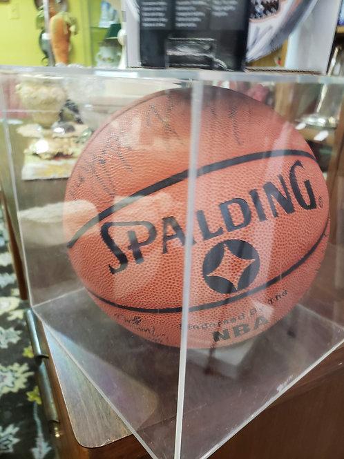 Autographed Houston Rockets Basketball V#31