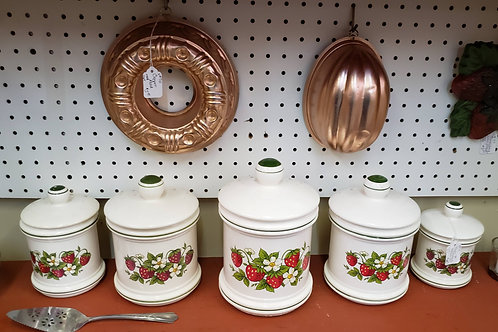 5pc Strawberry Canister Set V#715
