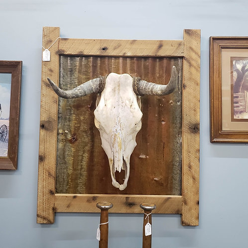 Framed Cow Head V#761