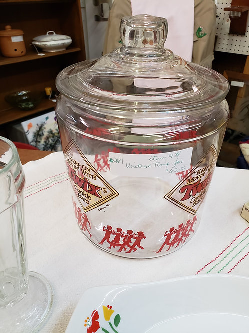 Vintage Twix Glass Jar V#967