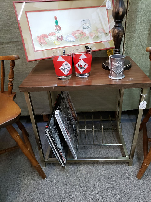 Vintage Table w/ Record Rack V#430
