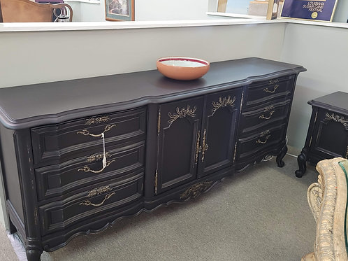 Black 9 Drawer Dresser V#783