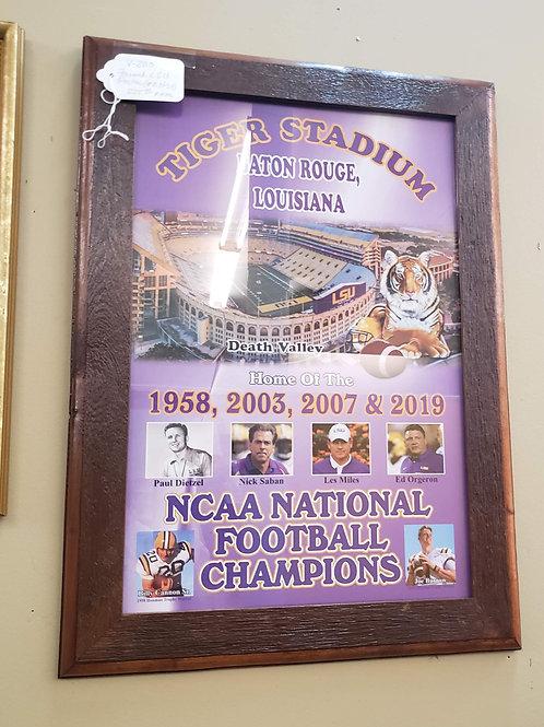Framed LSU Champion Poster #10 of 50 V#200