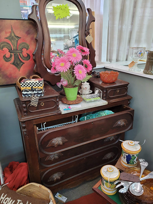 Antique Dresser w/ Mirror V#1706