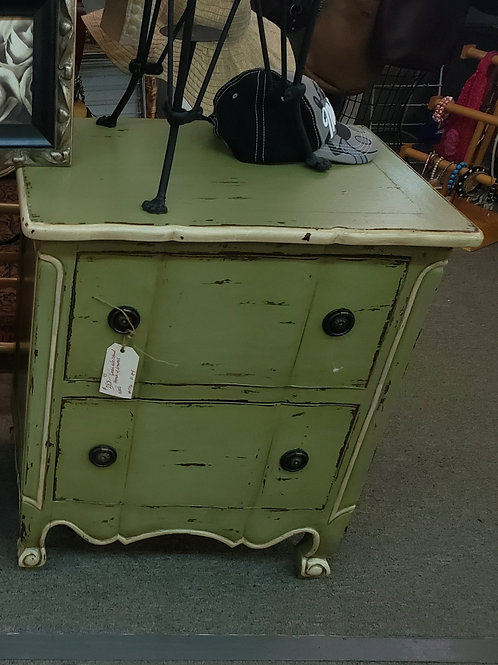 Green French Provencal Side Table V#1706