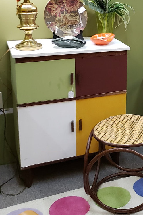 Painted Wood Cabinet V#925