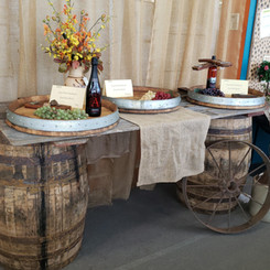 Whiskey barrels and wine barrel lazy sus