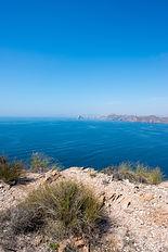 The sea in Calabardina under the blue sk