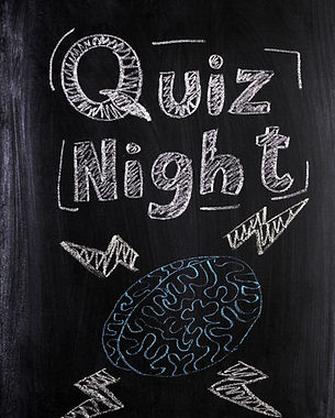 Quiz Night announcement on a used blackb