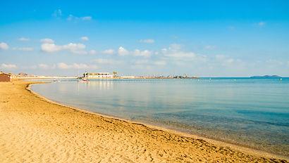 Los Nietos beach in the Mar Menor. Some