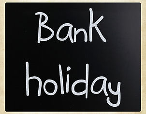 _Bank holiday_ handwritten with white ch