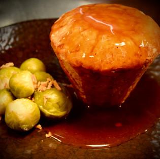 Mushroom and caramelised onion suet pie