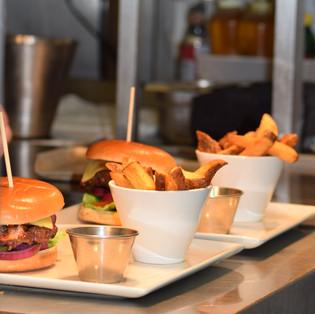 The Elveden Inn Burger with Hand Cut Chips