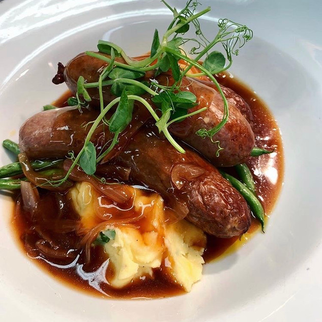 Venison Sausages and Creamy Mash