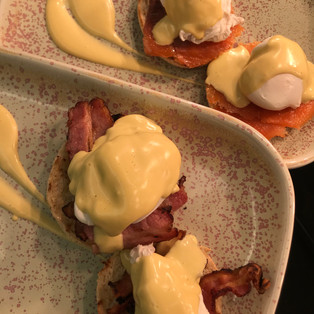 Eggs Benedict and Royale