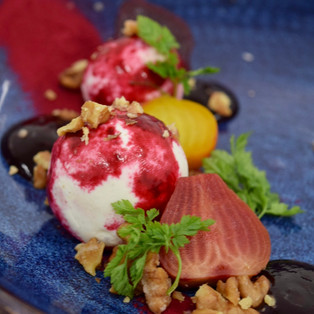 Goat's Cheese and Baby beets