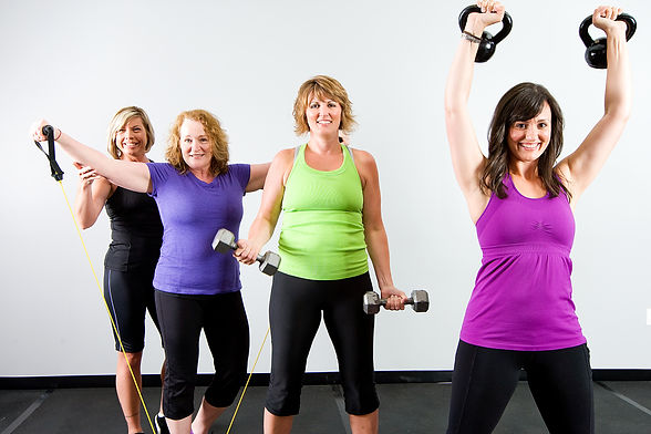 Healthy, active group of mature women wo