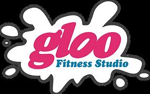 Gloo Fitness Studio - white outline blue