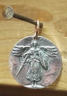 Custom pewter (white metal) medallions