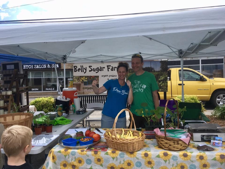 Our first sale! The Summer Harvest Festival in Jamestown