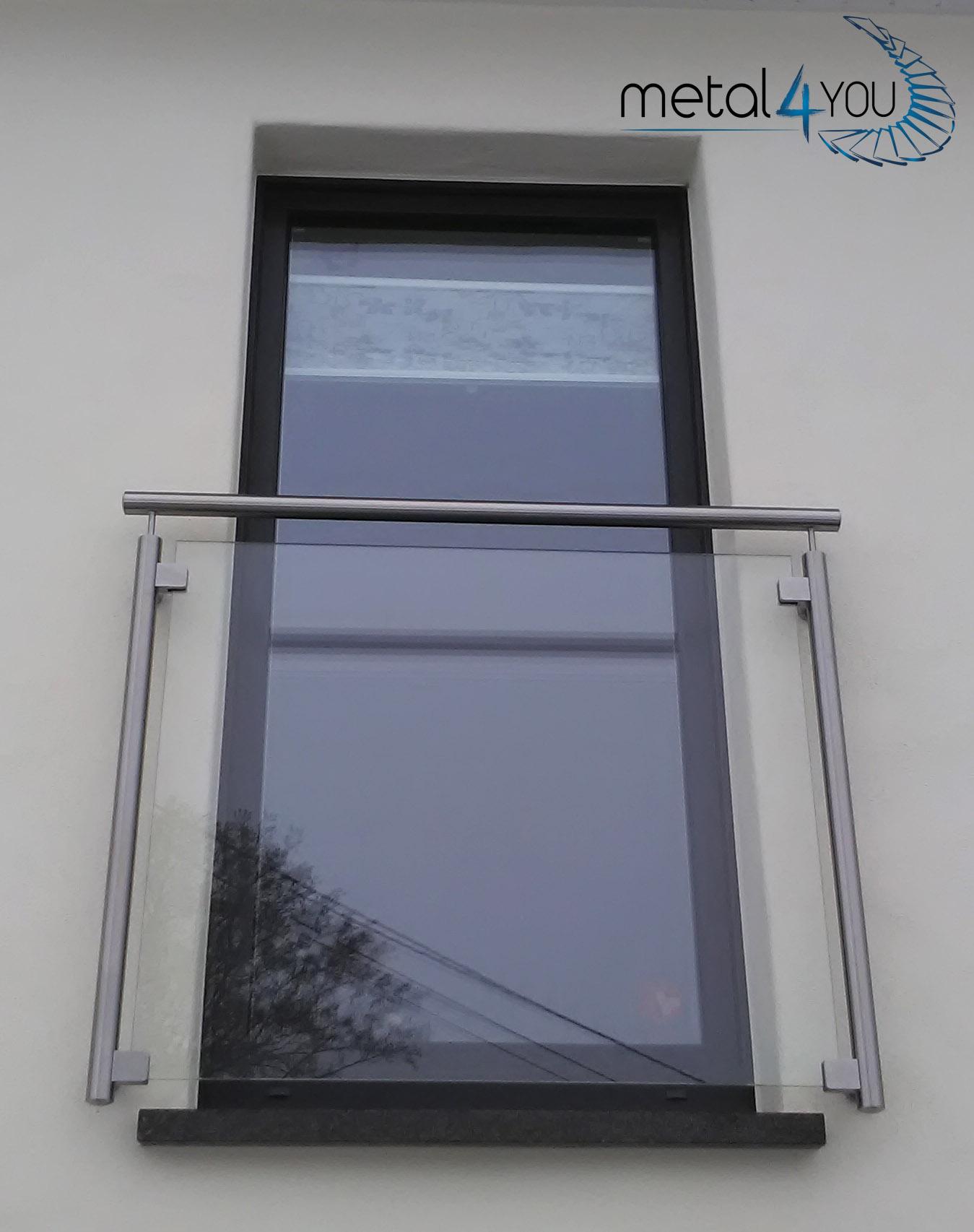 Fensterschutz Glas - Edelstahl