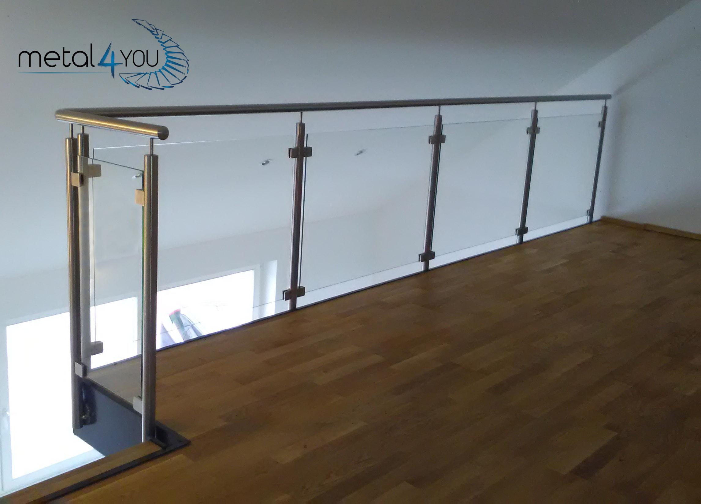 Glas-Edestahl-Geländer