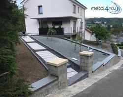 Vordach, Maueradeckungen, Geländer