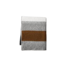 Italian Boiled Striped Wool Throw Blanket