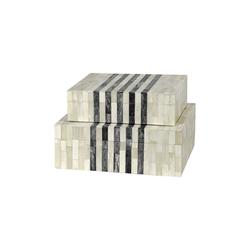 Palecek York Inlaid Bone Boxes