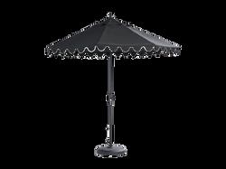 Scalloped Octagonal Market Umbrella