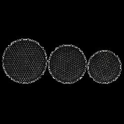 Hand-Woven Bamboo Baskets, Black, Set of 3