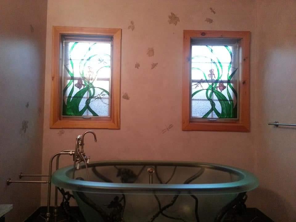 Custom Bathroom Iris Windows