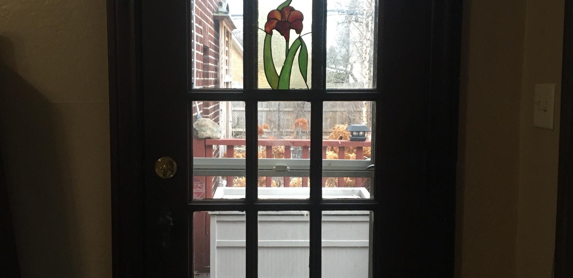 Day Lily Window Panel Insert