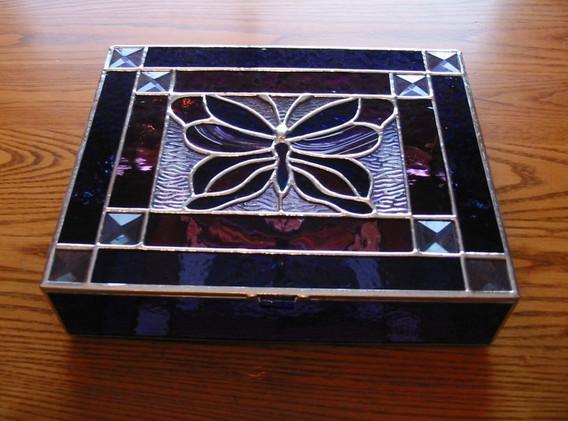 Beveled Butterfly Jewelry Box