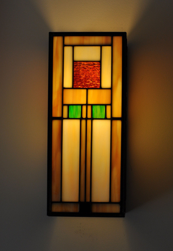 Closer view of FL Wright Wall Sconce